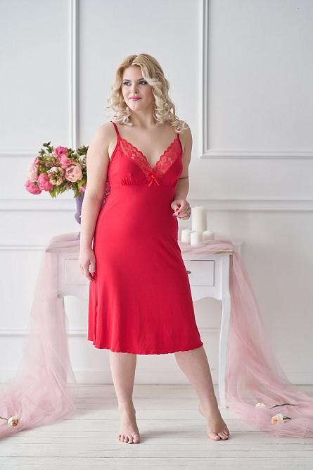 Сорочка 0056 красный Sharlize