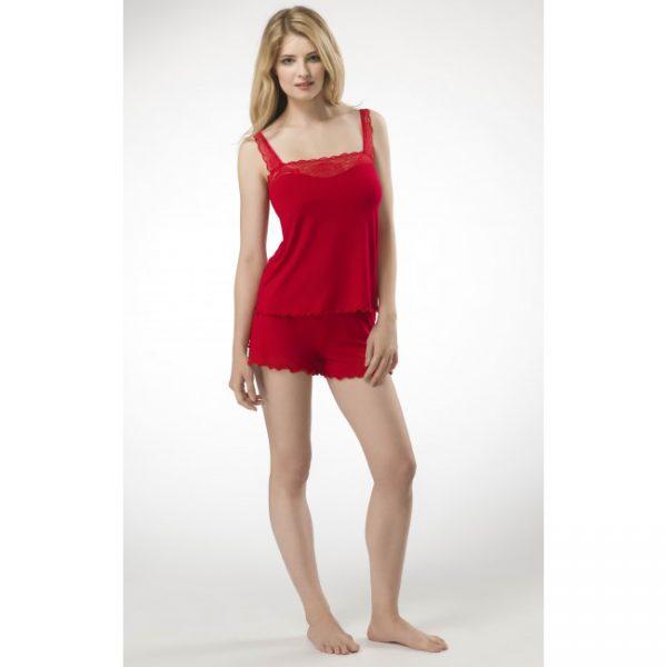 Шорты пижамные G3416SH красный