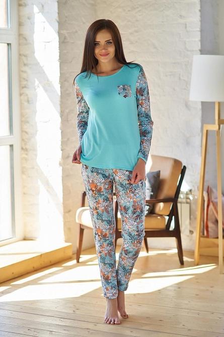 Пижама (блуза+брюки) 0754