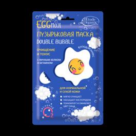 Пузырьковая маска double bubble с яичным белком Eggmoji