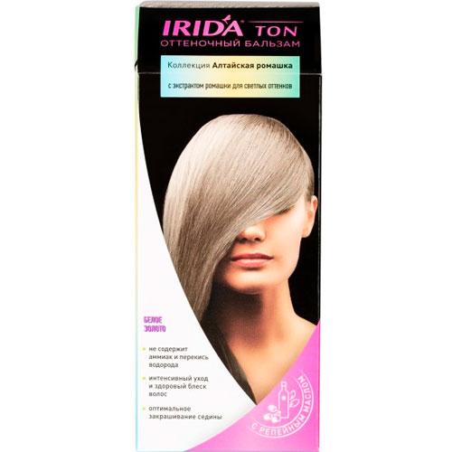Бальзам оттеночный для окраски волос IRIDA TON БЕЛОЕ ЗОЛОТО