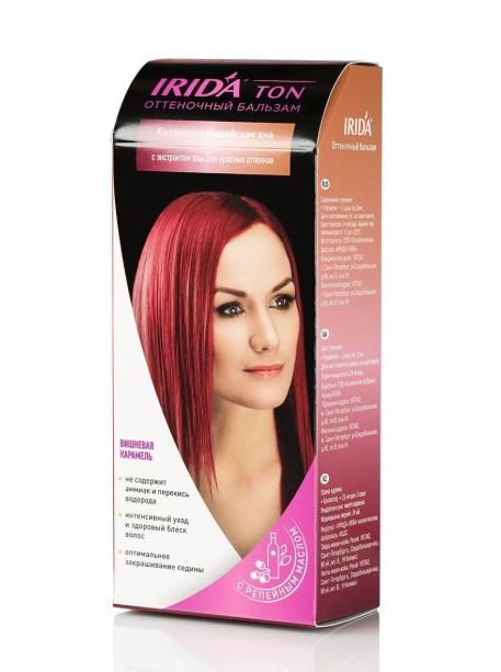 Бальзам оттеночный для окраски волос IRIDA TON ВИШНЕВАЯ КАРАМЕЛЬ