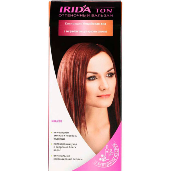 Бальзам оттеночный для окраски волос IRIDA TON МАХАГОН
