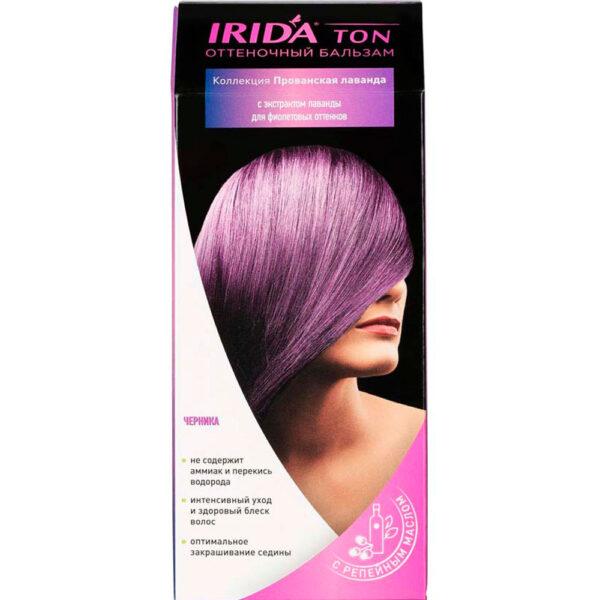 Бальзам оттеночный для окраски волос IRIDA TON ЧЕРНИКА