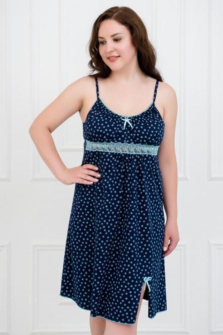 Сорочка ночная 0057-09 синий Sharlize