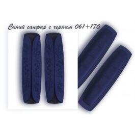 Наплечники 2019.05 синий сапфир с черным