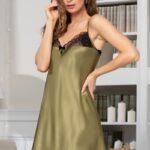Сорочка Olivia 3641 оливковый