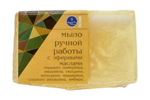 Мыло ручной работы с эфирными маслами ИМБИРЬ И АПЕЛЬСИН