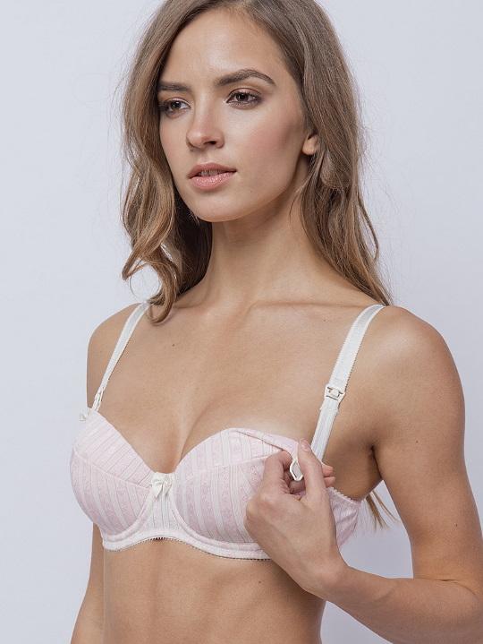 Бюстгальтер 20005 молоко-розовый LENGY